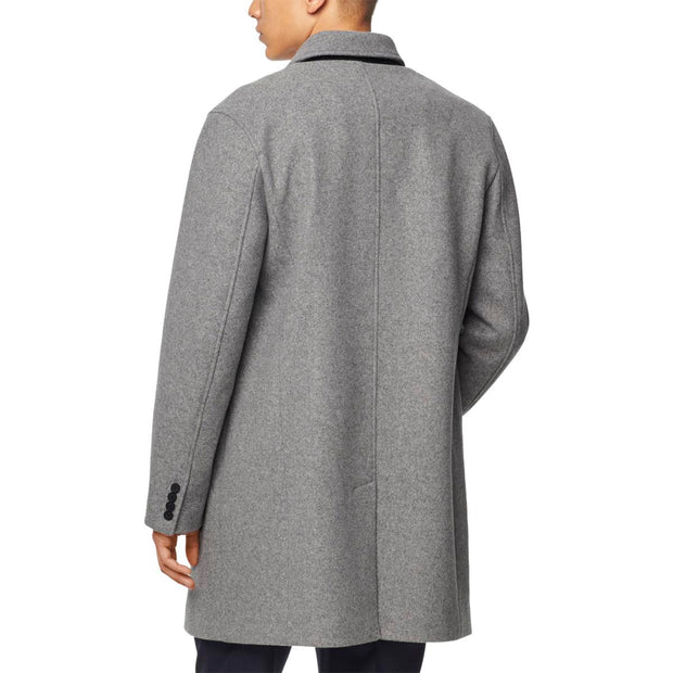Cole Haan Mens Grand Series Winter Wool Blend Top Coat