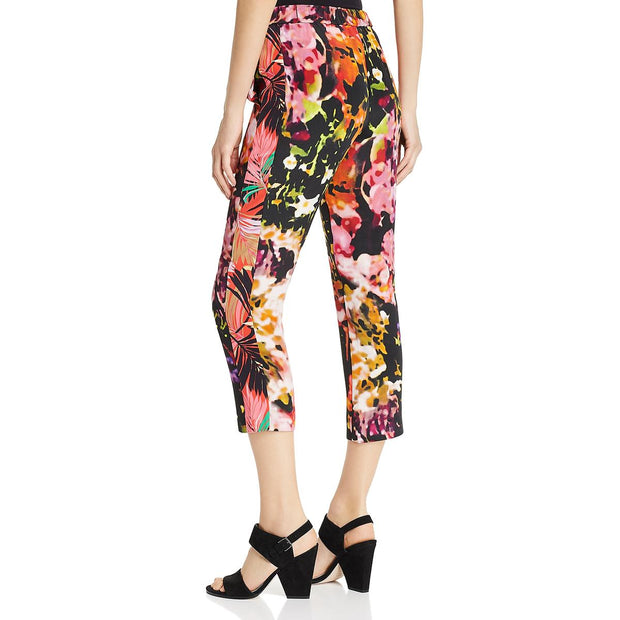 Athena Womens Silk Printed Cropped Pants