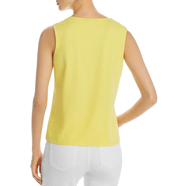 Womens Embelllished Round Neck Tank Top