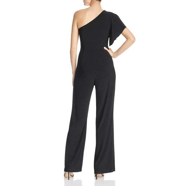 Womens One Shoulder Stretch Jumpsuit