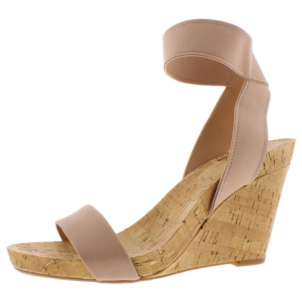 Leanira Womens Heeled Open-Toe Wedge Sandals