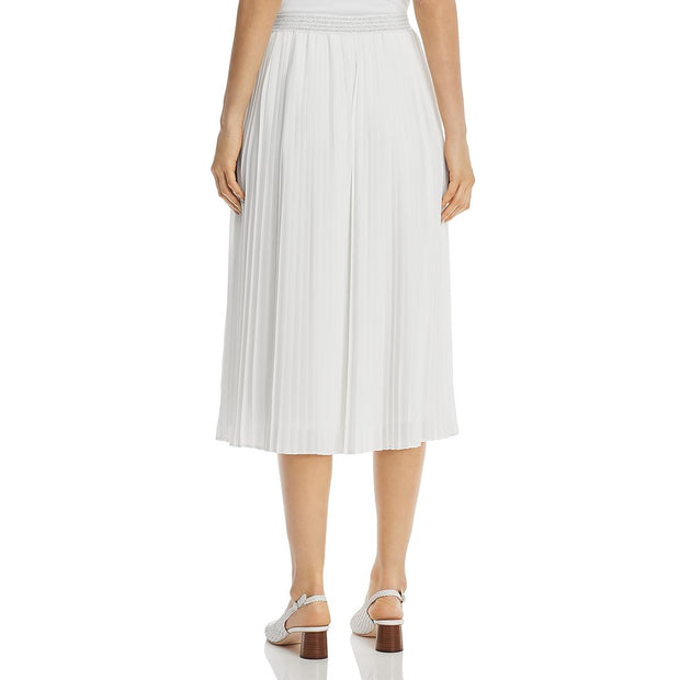 Womens Pleaded Pull On Midi Skirt