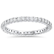 G/SI .75 Ct Genuine Diamond Engagement Wedding Ring 14K White Gold Stackable Band