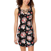 Womens Sleeveless Lace Up Casual Dress