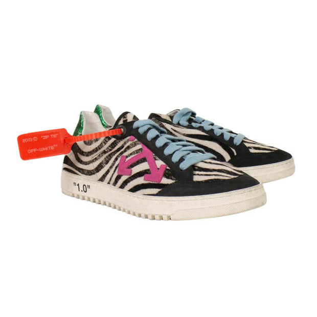 OFF WHITE c/o VIRGIL ABLOH Black/White Zebra Low Top Sneakers