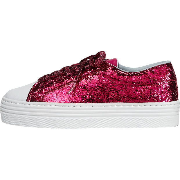 Glittered Womens Shiny Platform Fashion Sneakers