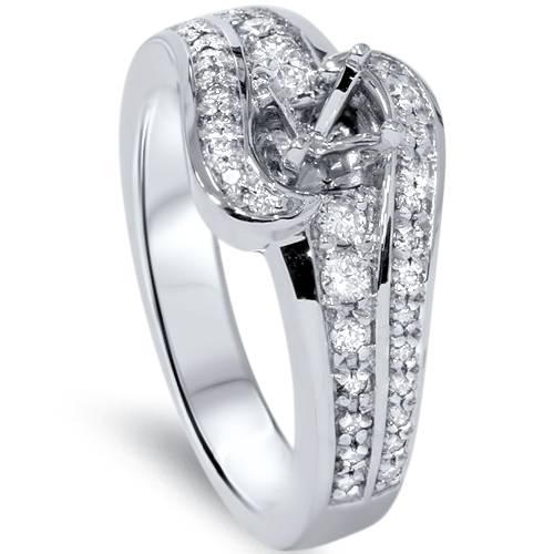 1/3ct Diamond Engagement Setting 14K White Gold