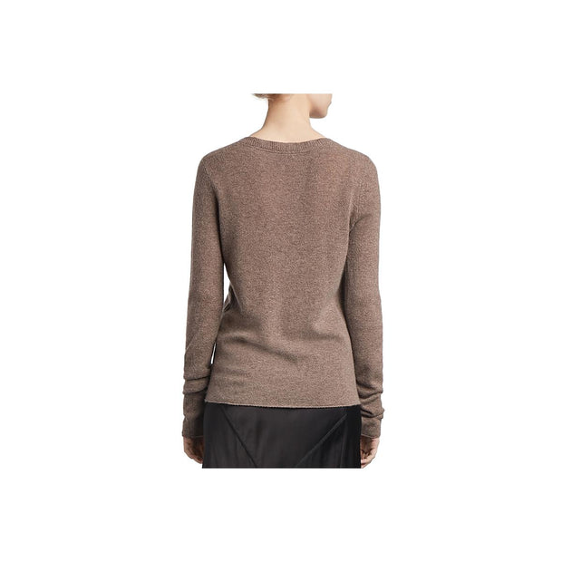 ATM Womens Cashmere V-Neck Pullover Sweater
