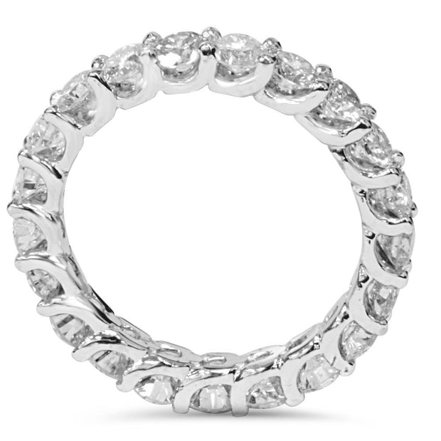 2 1/2 Carat U Prong Diamond Eternity Womens Wedding Ring 14K White Gold