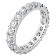 VS/G 2 Ct Moissanite Eternity Ring Womens Wedding Band 14k White Gold