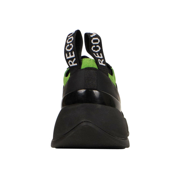 "PALM ANGELS Black And Green ""Recovery Lace Up"" Sneakers"