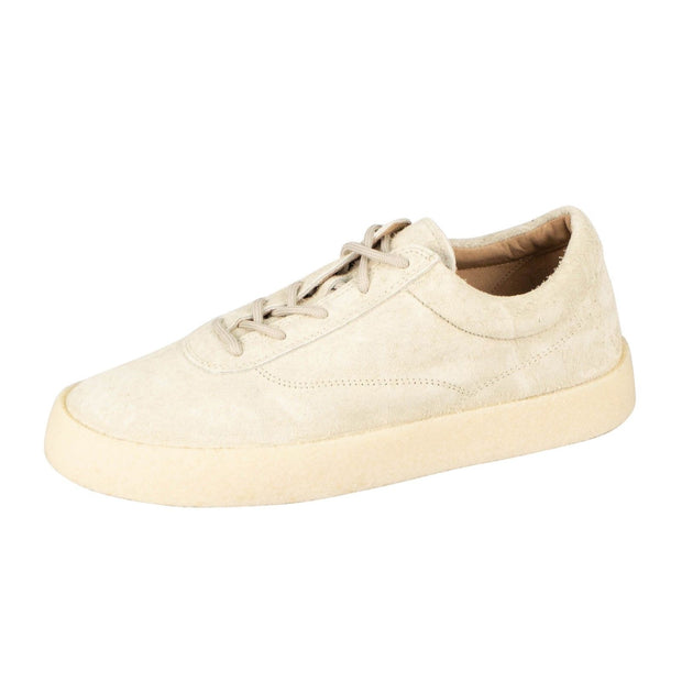 YEEZY Season 6 'Chalk' Thick Shaggy Suede Crepe Sneakers