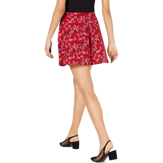 Womens High Waisted Floral Wide Leg Shorts