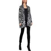 Womens Animal Print Duster Cardigan Sweater