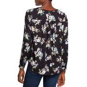 Womens Floral V-Neck Blouse