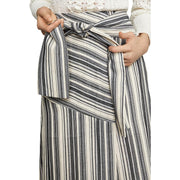 BCBG Max Azria Womens Striped Tie Front Skirt