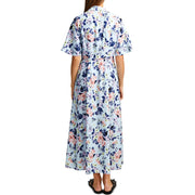 Cerisier Womens Floral Crepe Maxi Dress