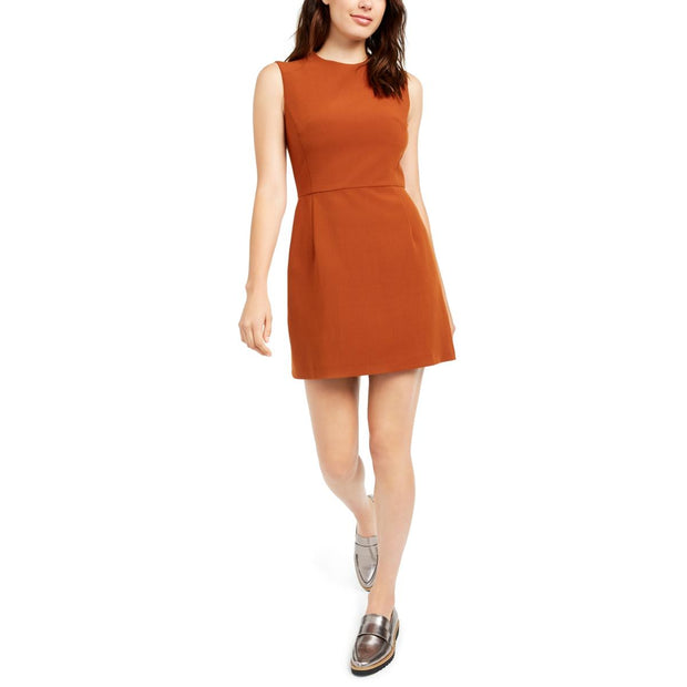 French Connection Womens Sleeveless Layering Sheath Dress