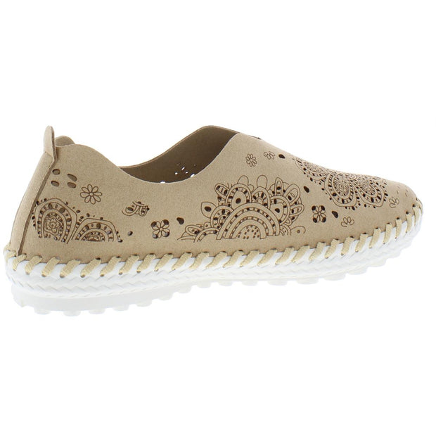 TW09 Womens Leather Flat Slip-On Sneakers