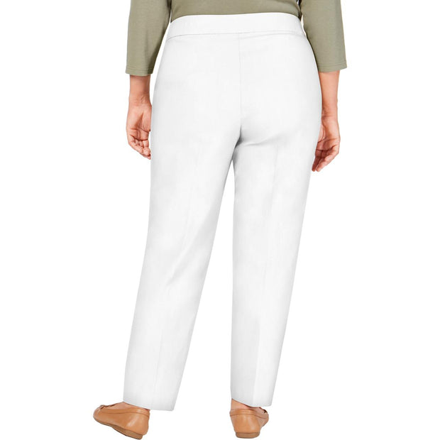 Plus Womens Stretch Slimming Dress Pants