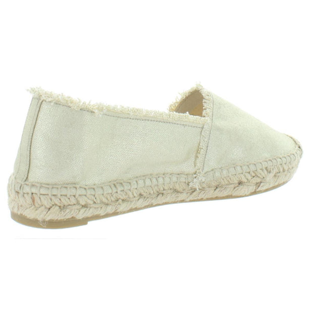 Kito Womens Metallic Slip On Espadrilles