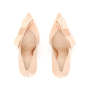 Gianvito Rossi Women's Silk Satin Kyoto 100 Bow-Embellished Pump Shoes