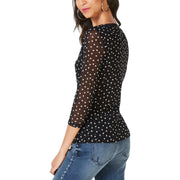 Womens Illusion V Neck Blouse