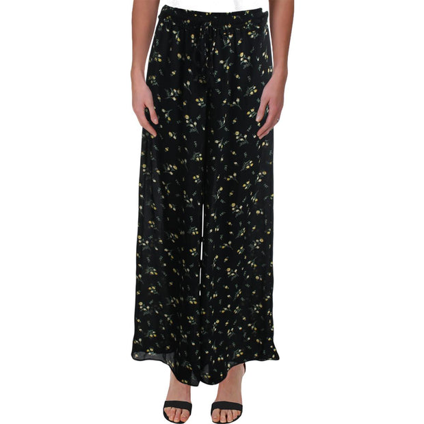 Womens Floral Print Smocked Waist Casual Pants