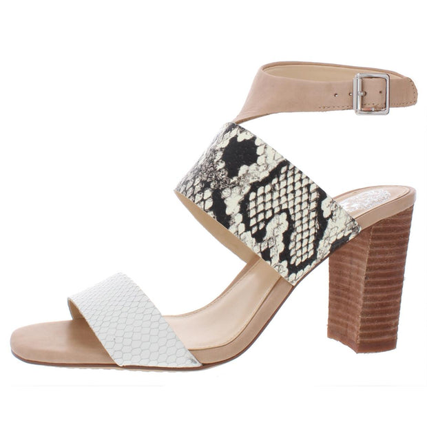Vince Camuto Womens Warma Leather Heel Sandals