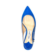 Jimmy Choo Women's Suede Gemma Low Slingback Pump Blue