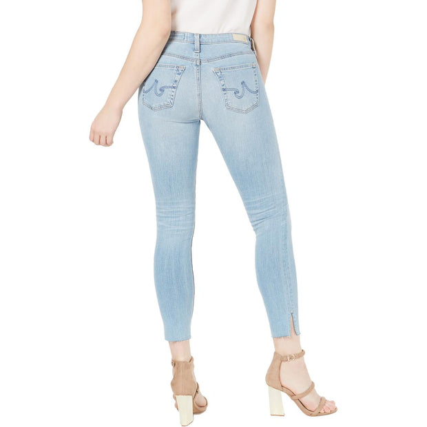 AG Adriano Goldschmied Womens The Legging Stretch Low Rise Skinny Jeans