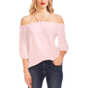 Vince Camuto Womens Off-The-Shoulder Tie Back Top