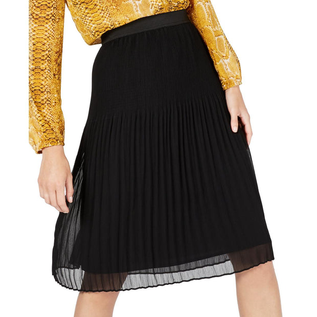 Womens Pull On Pleated A-Line Skirt