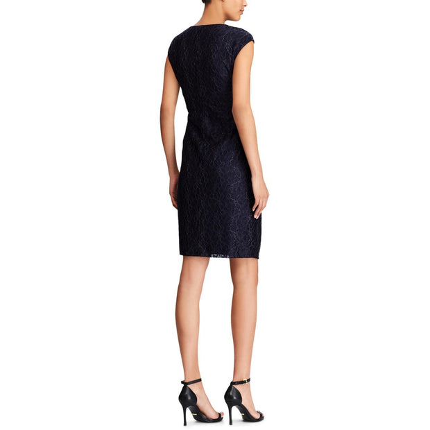 American Living Womens Metallic Lace Cocktail Dress