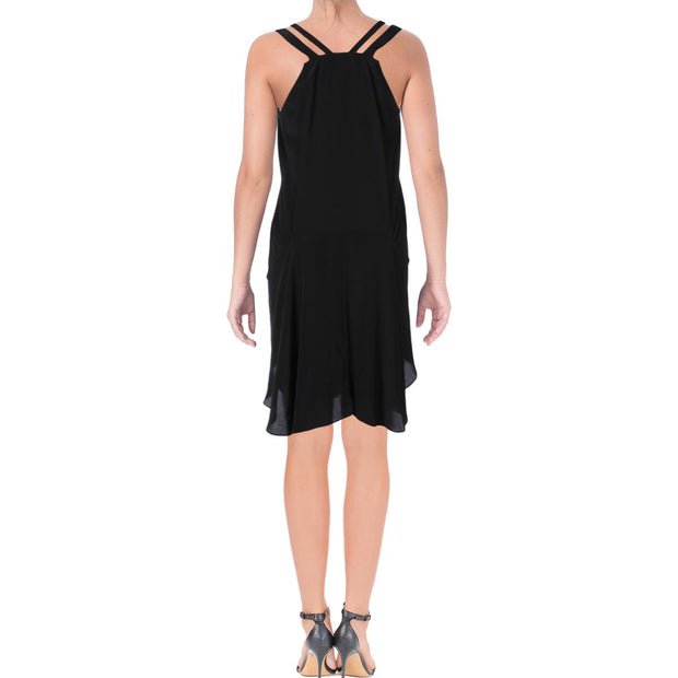 Womens Silk Sleeveless Wrap Dress