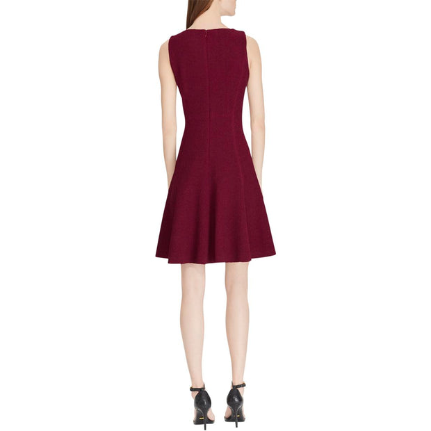 American Living Womens Scotty Jacquard Fit & Flare Party Dress