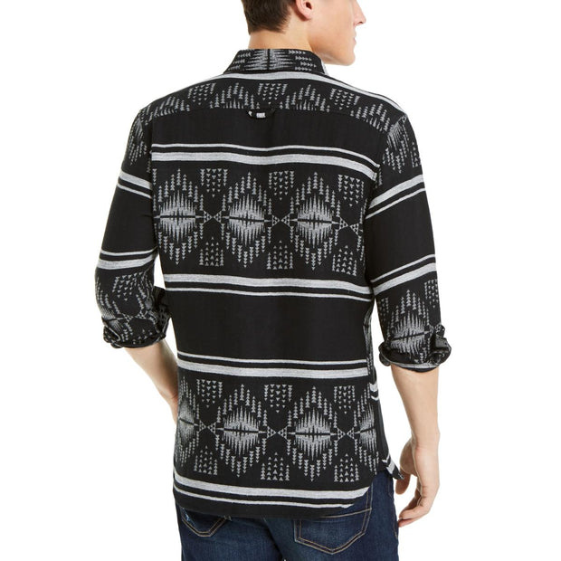 Mens Printed Long Sleeve Casual Shirt