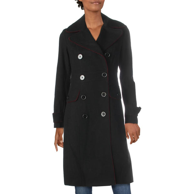 Womens Wool Blend Dressy Trench Coat