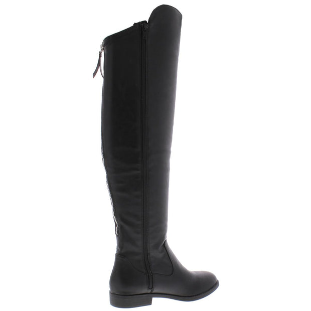 Style & Co. Womens Hayley Faux Leather Tall Over-The-Knee Boots
