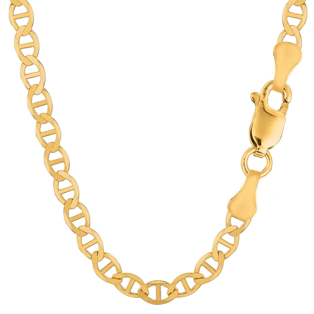 14k Yellow Gold Mariner Link Chain Necklace, 6.0 mm