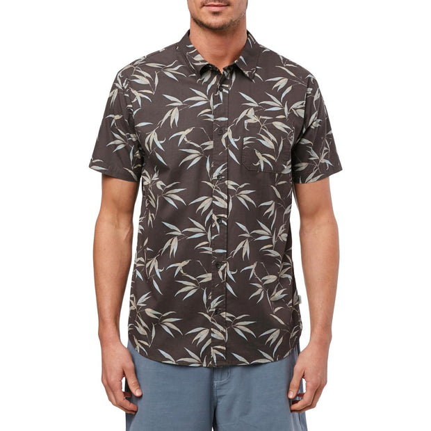Bamboo Mens Cotton Printed Button-Down Shirt