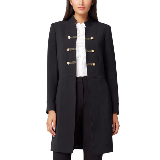 Womens Military Double-Breasted Blazer
