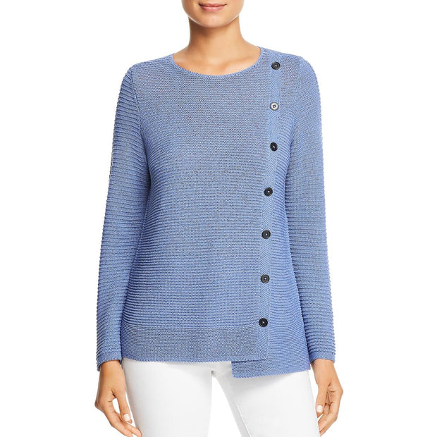Nic + Zoe Womens Knit Button Down Pullover Sweater