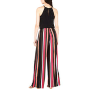 Womens Striped Sleeveless Jumpsuit
