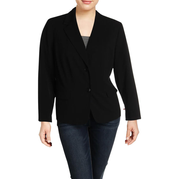 Plus Womens Suit Separate Professional Two-Button Blazer