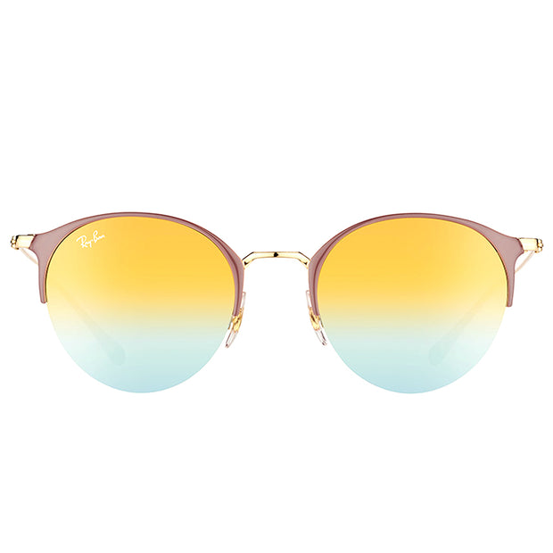 Ray-Ban Round RB 3578 9011A7 Unisex Turtle Dove Gold Frame Green Gradient Mirror Lens Sunglasses