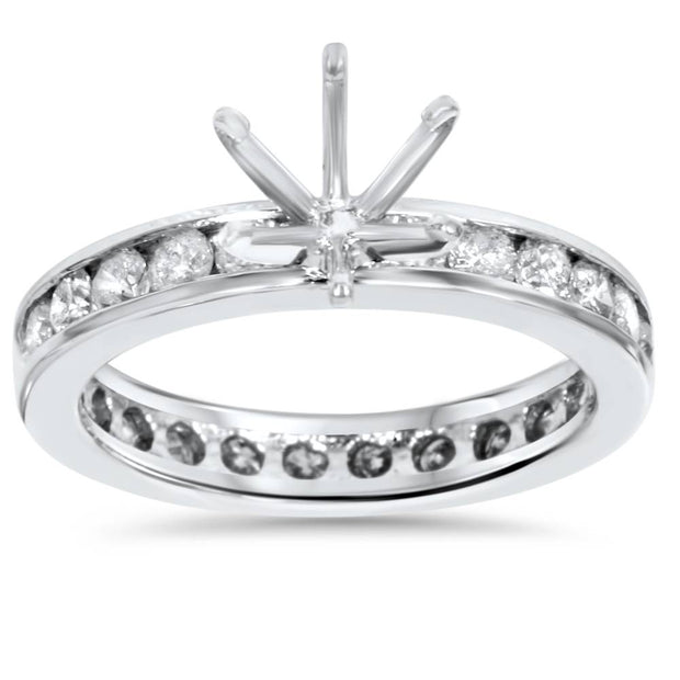 1 1/2ct Diamond Eternity Engagement Setting Mount Ring