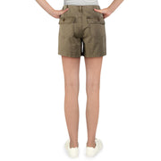 Womens Mid-Rise Frayed Hem Shorts