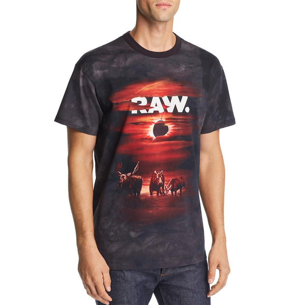 Cyrer Eclips Mens Graphic Crew Neck T-Shirt