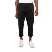 Mens Cropped Button-Fly Chino Pants